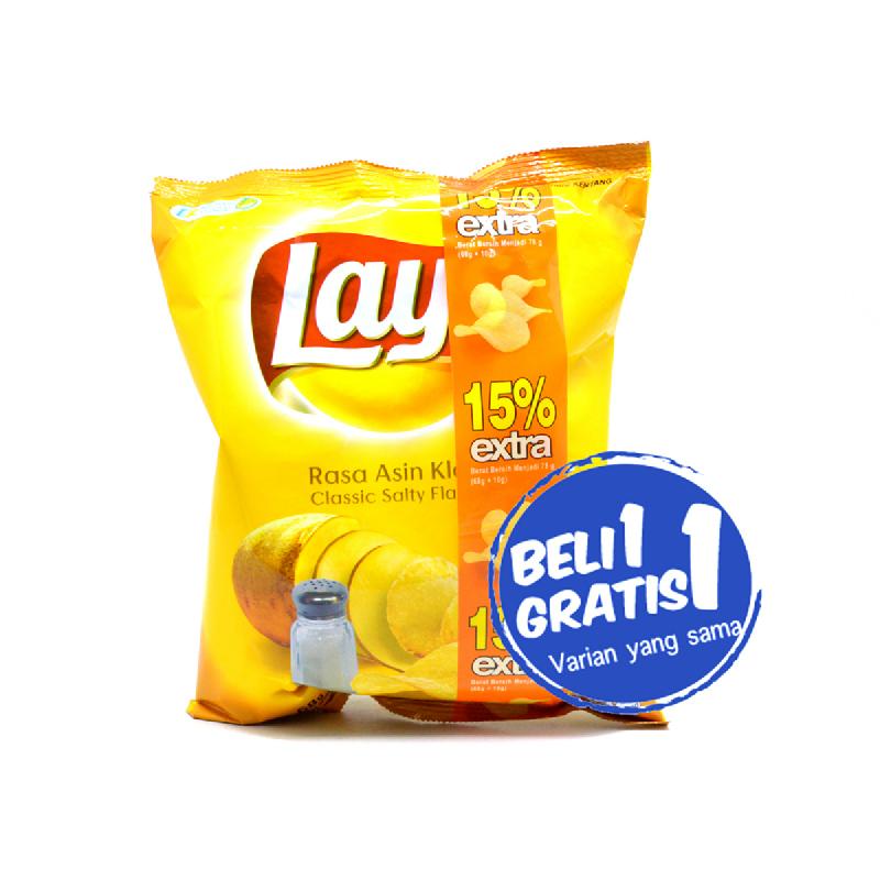 Lays Asin Klasik 68 Gr (Buy 1 Get 1)