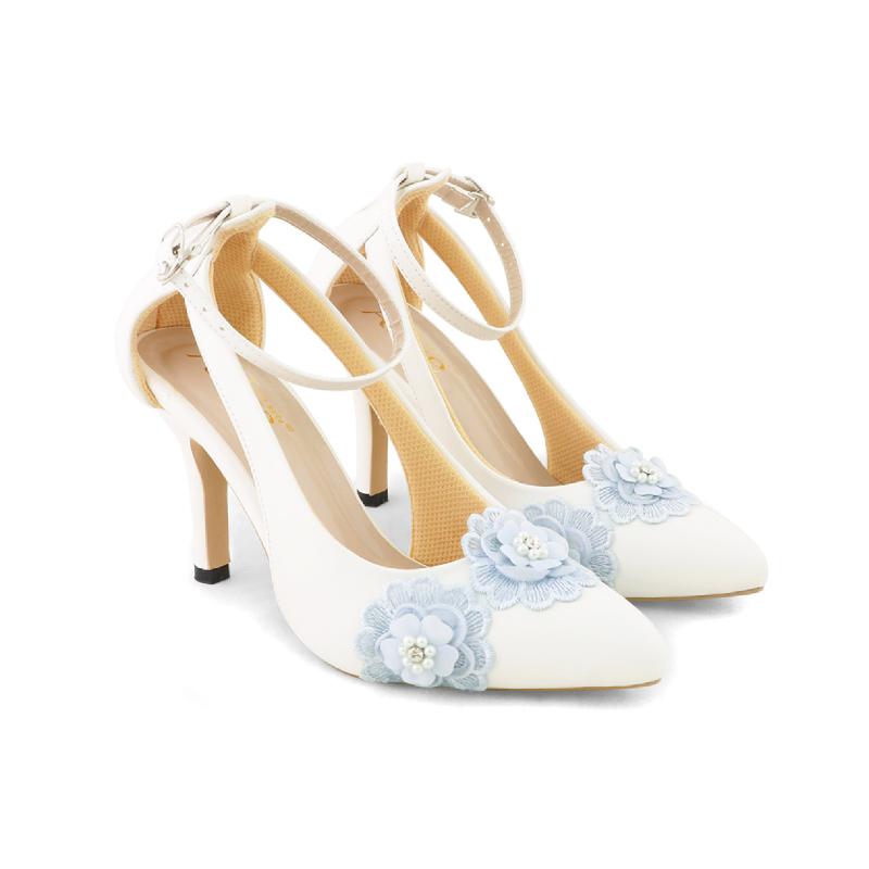AliveLoveArts Eros-Flora Heels White