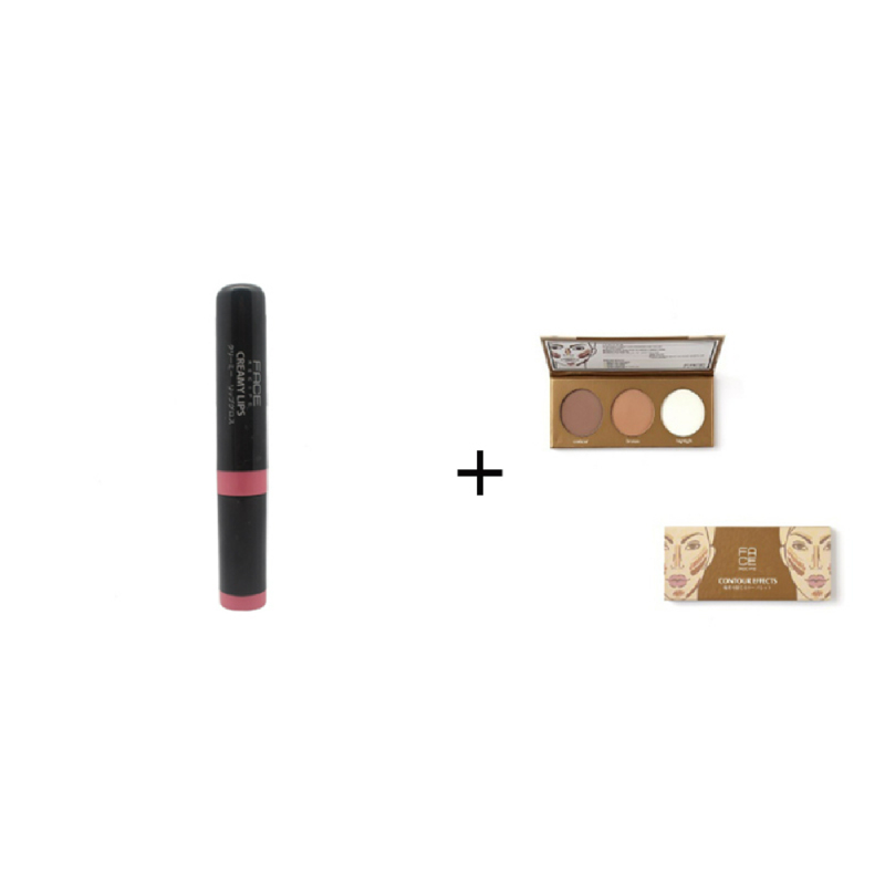 Face Recipe Creamy Lips Indianred Lip Gloss + Face Recipe Contour Effects