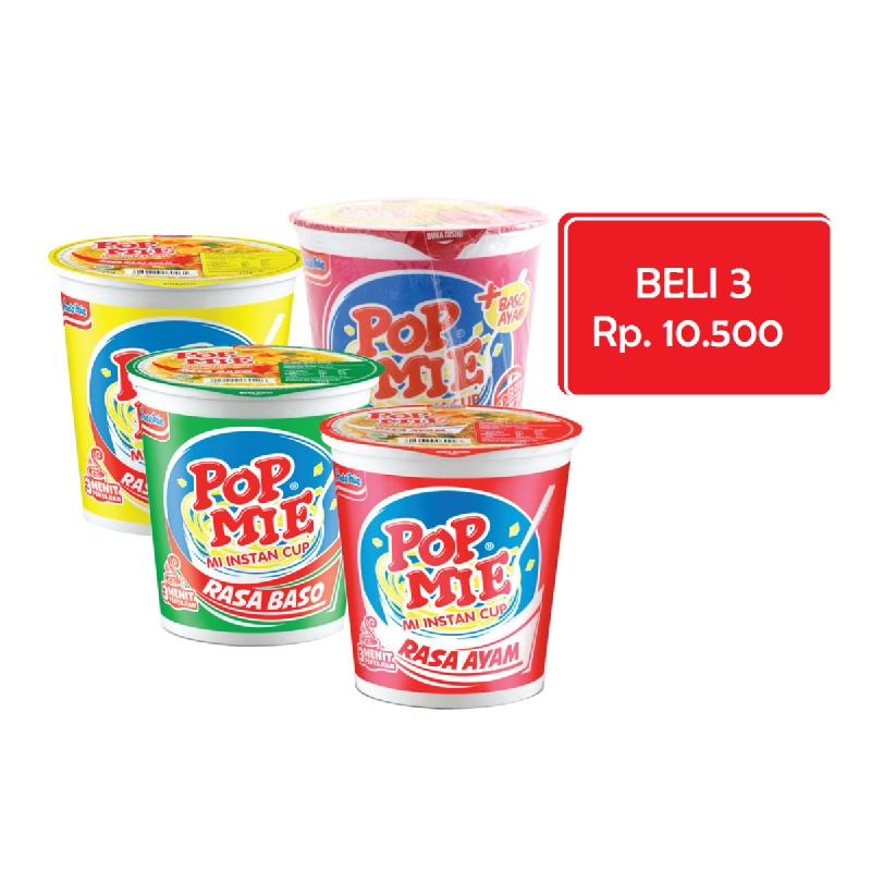 Pop Mie Ayam Bawang 5775G (3 Pcs)