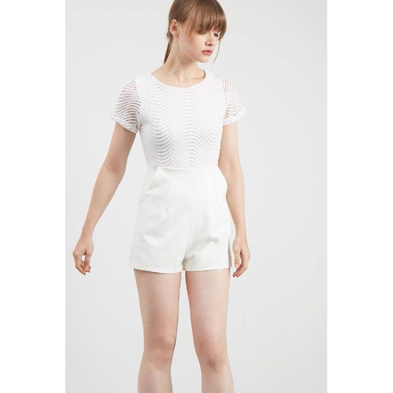 Gwen Kenneth Playsuit in White