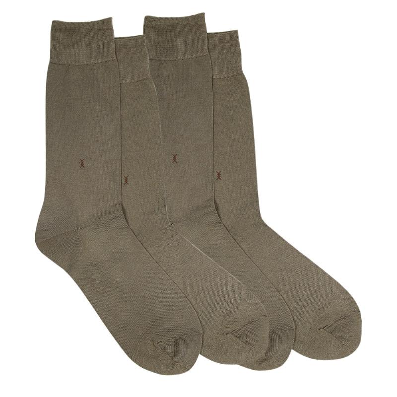 Gunze Men Casual Socks (2 Pairs) 10308Black