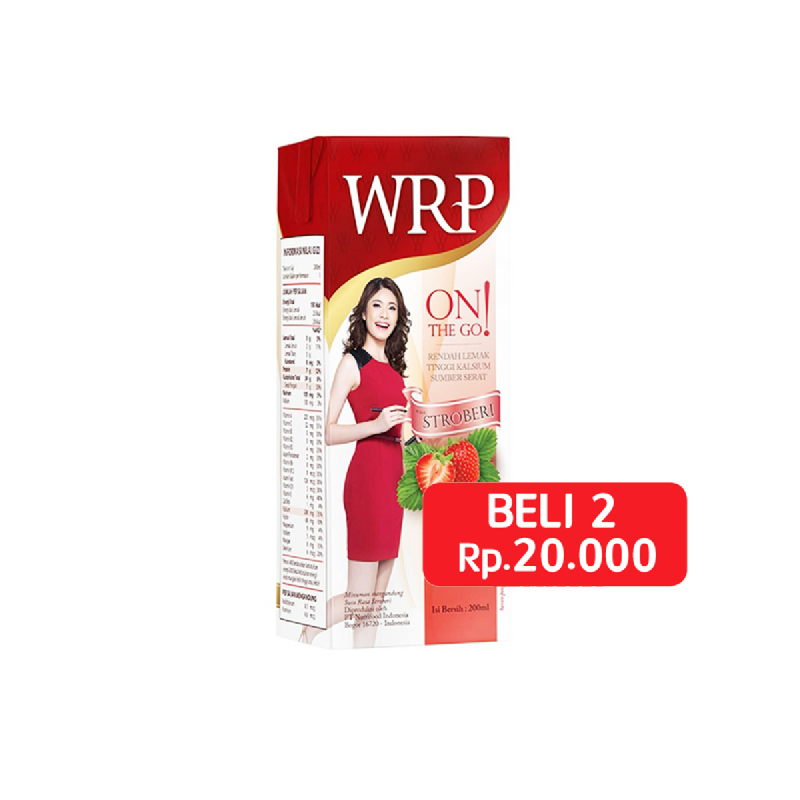 Wrp On The Go Strawberry Low Fat 200 Ml (Get 2 Pcs)