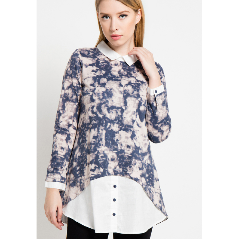 Graphis Poly Blouse Navy
