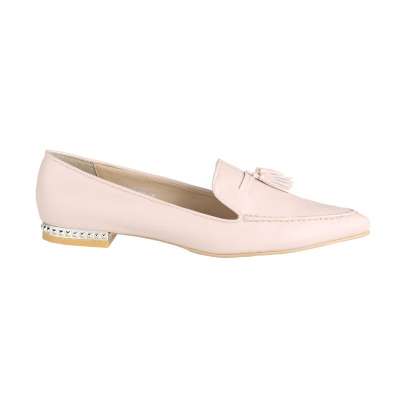 Amante Sepatu Flat Laura D17 Nude