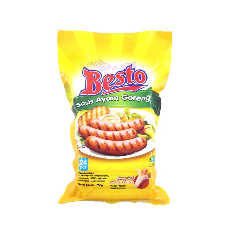 Besto Sosis Ayam Goreng 760 Gr isi 24 Pcs