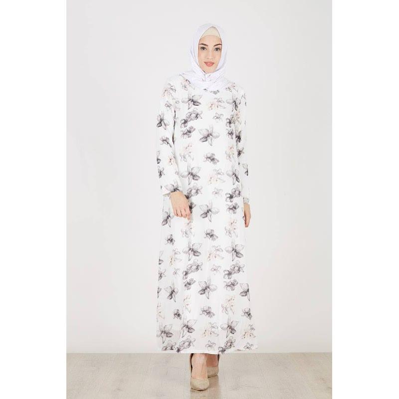 Bardey Dress Flowery White