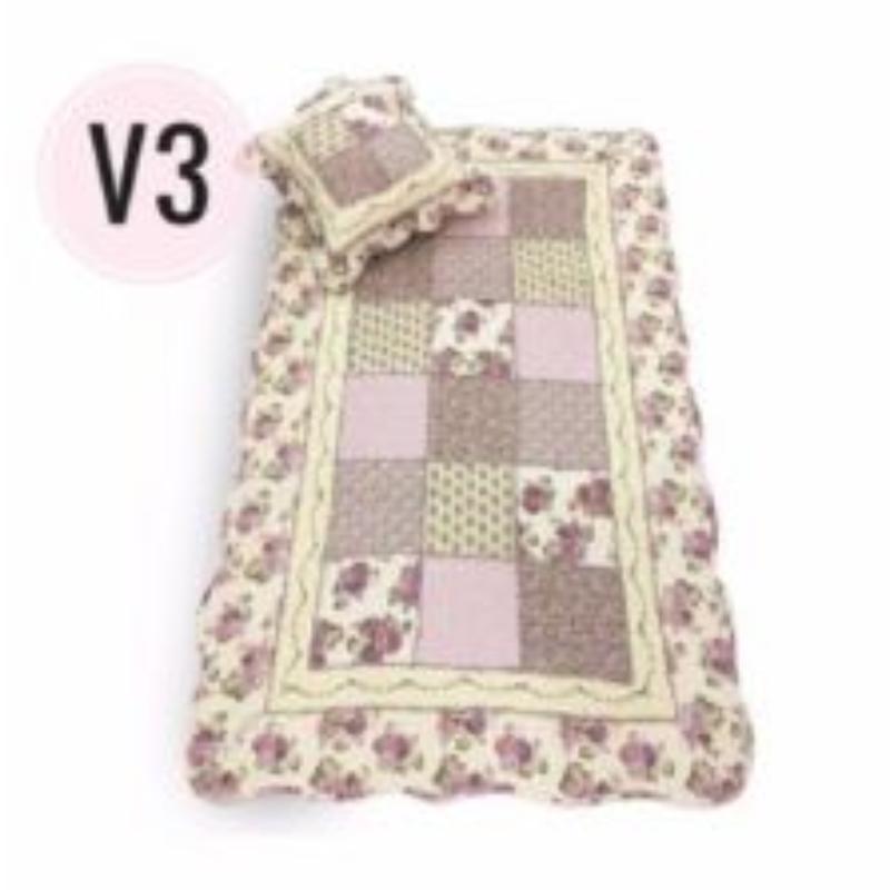 Vintage Story - Shabby Sajadah Exclusive Karpet Korea Antislip 90x150 Cm - KP06 - Motif V3 + 1 Sarung Bantal