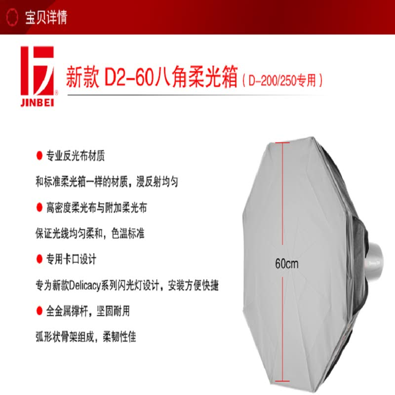 D2-60 OCTAGONAL SOFT BOX