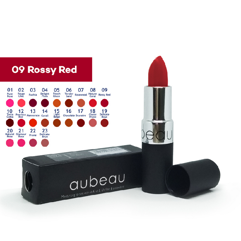 Aubeau Lipstick 09 – Rossy Red 4 Gr