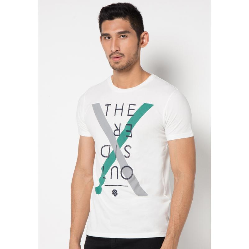 White The Outsider Short Sleeves Tee