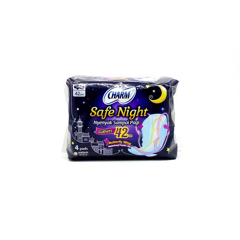 Charm Body Fit Night Wing 42cm  4p