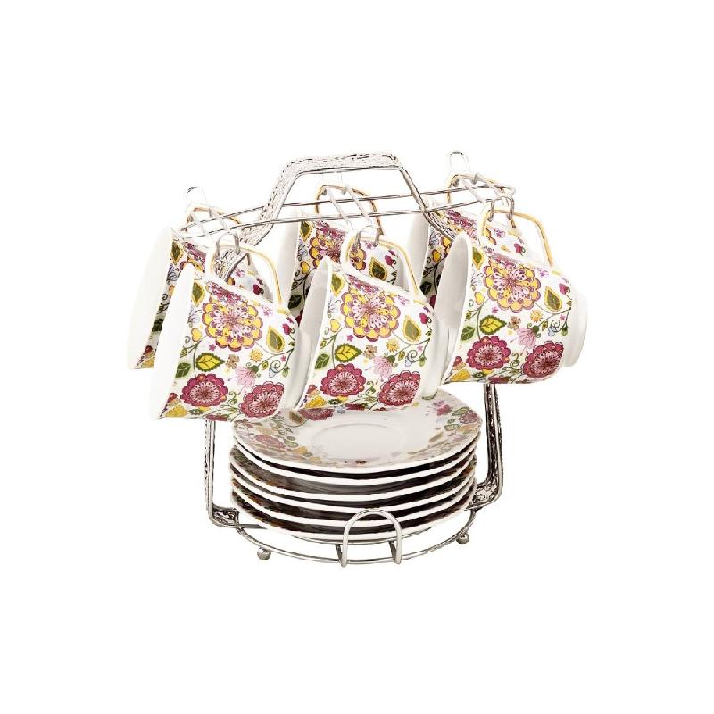 Vicenza Tableware Cup & Saucer Segi Delapan C78-1 Gardenia