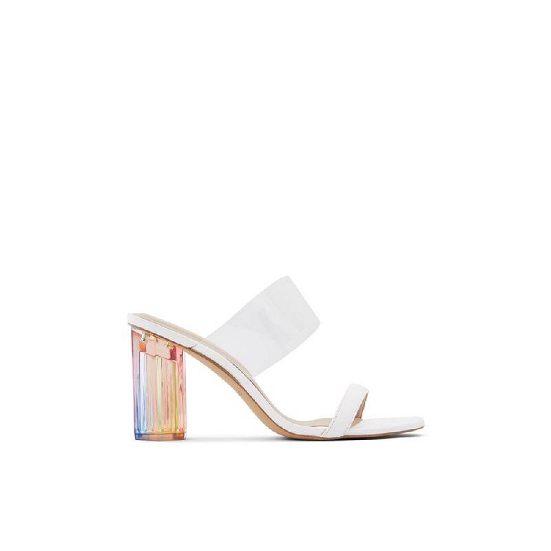 ALDO Ladies Slip On Block Heels CLARA-100 White