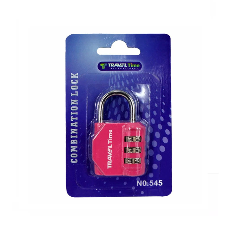Traveltime Combination Lock 545 Pink
