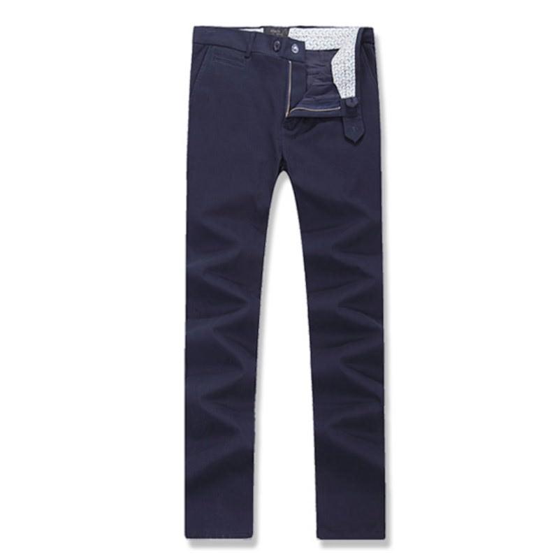 Coin Pocket Cotton Span Pants - Navy