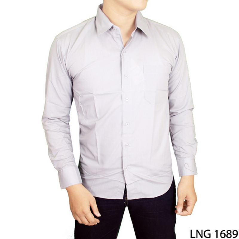 Gudang Fashion Baju Panjang Pria Casual Katun Abu LNG 1689