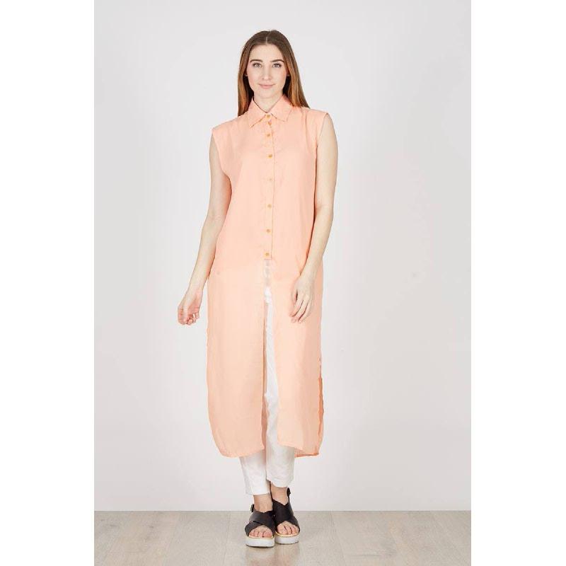 PA Sleeveless Long Shirt Orange