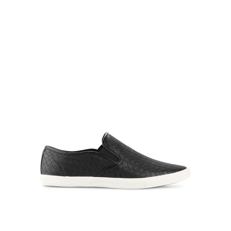 Black Weave Slip-On