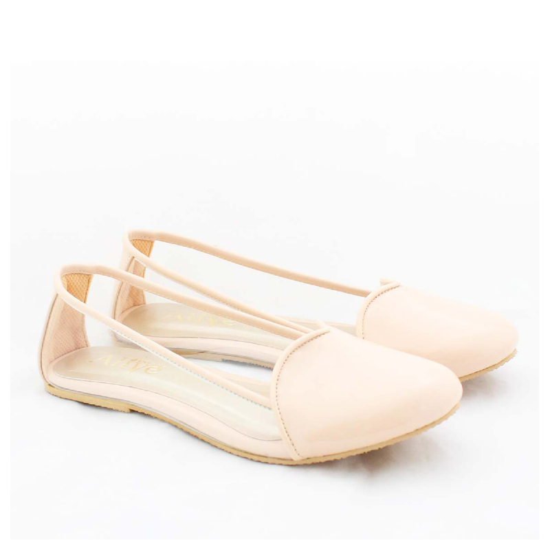 Alivelovearts Flat Shoes Amore Cream