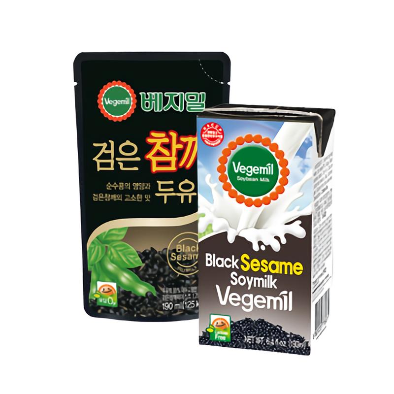 Vegemil Chungs Food Black Sesame Soybean Milk 190 Ml