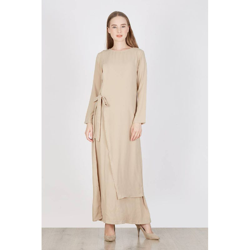 Roselle Layer Long Dress Cream