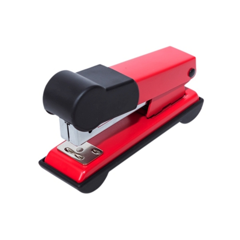 Bantex Stapler Small with Rubber Handle Red -9340 09