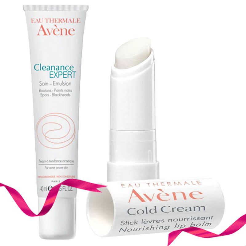 Avene Cleanance Spot Treatment Oily & Acne Care 15 ml + Avene Cold Cream Lip Stick 4,5 g