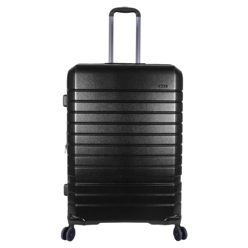 Elle Luggage Hardcase size 28 inch 4 Wheels TSA Lock Anti Theft Black