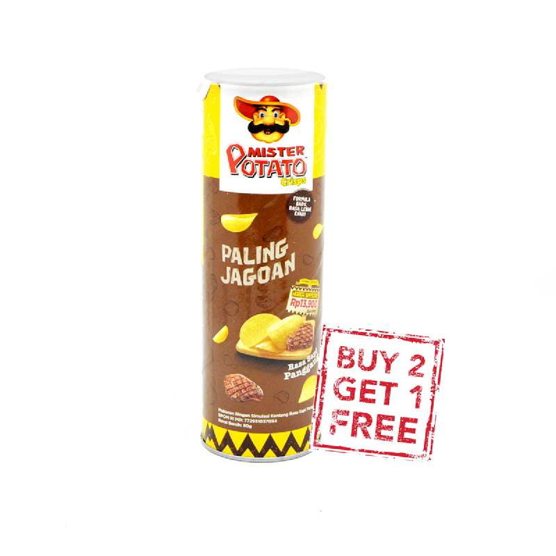 Mister Potato Roasted Bbq 80G (Buy 2 Get 1)