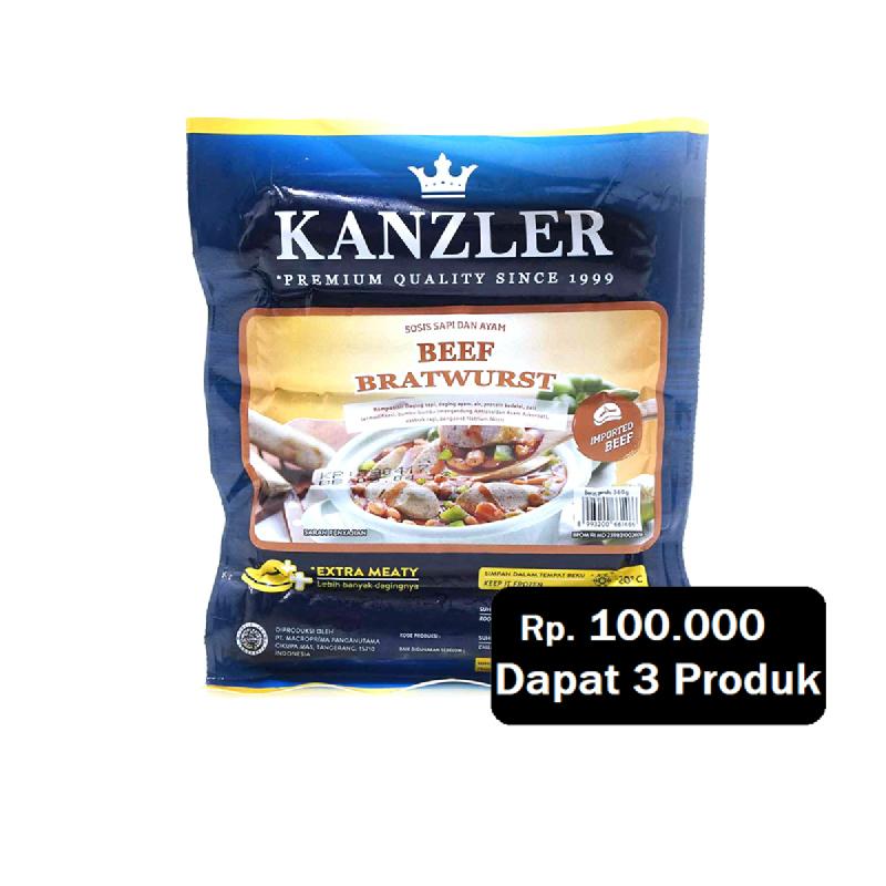 Kanzler Beef Bratwurst 400Gr (Rp. 100.000 Dapat 3)