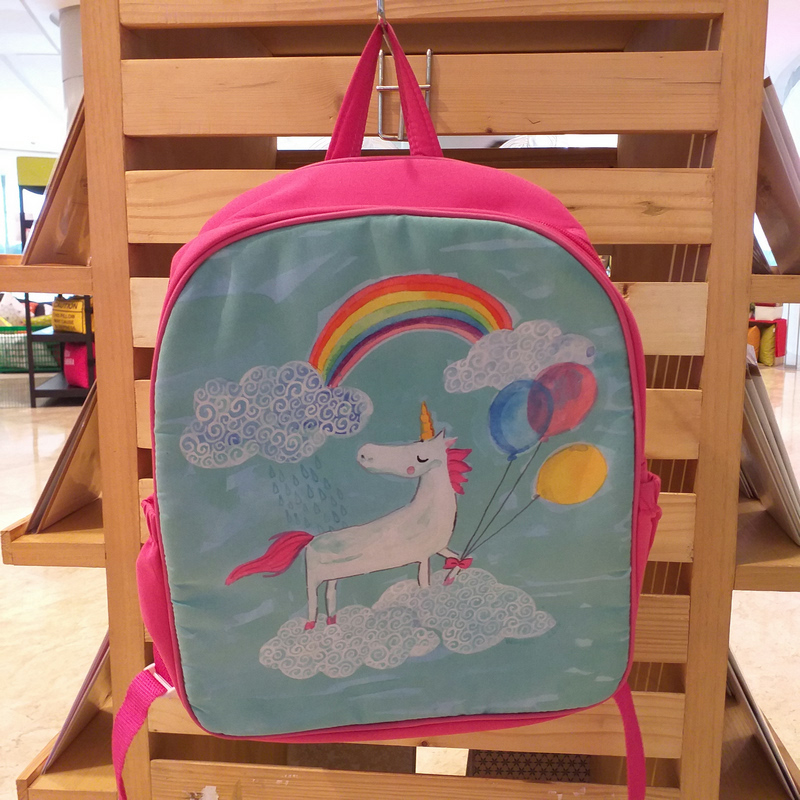 Kamalika Art Prints Backpack Unicorn Rainbow