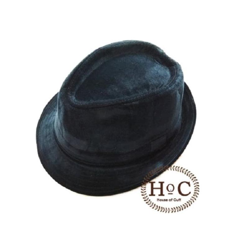 House Of Cuff Topi Fedora Hat Blue Fedora Hat Corduroy