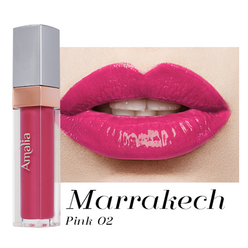 Amalia Glossy Lip Cream Marrakech Pink 02