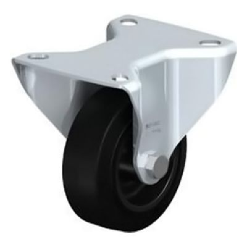 B-POEV 80G Wheel with Elastic Solid Rubber Tyre Fixed Castors B-POEV 160R