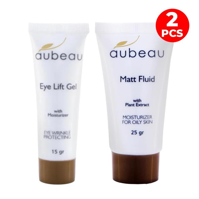 Aubeau Eye Lift Gel 15 Gr + Matt Fluid Moisturizer 25 Gr