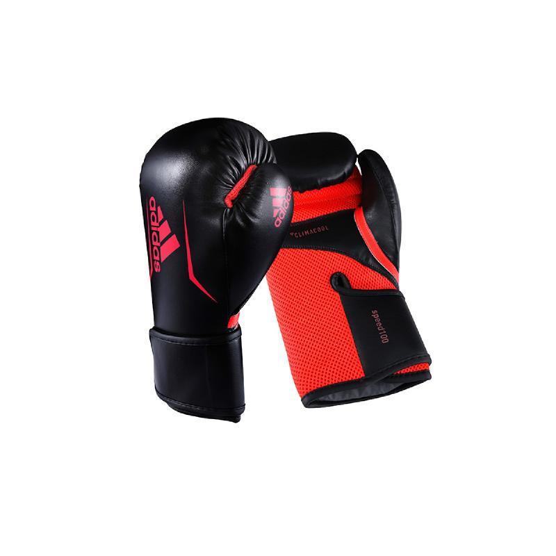 Adidas Combat Speed 100 Boxing Glove New Black Solar Red
