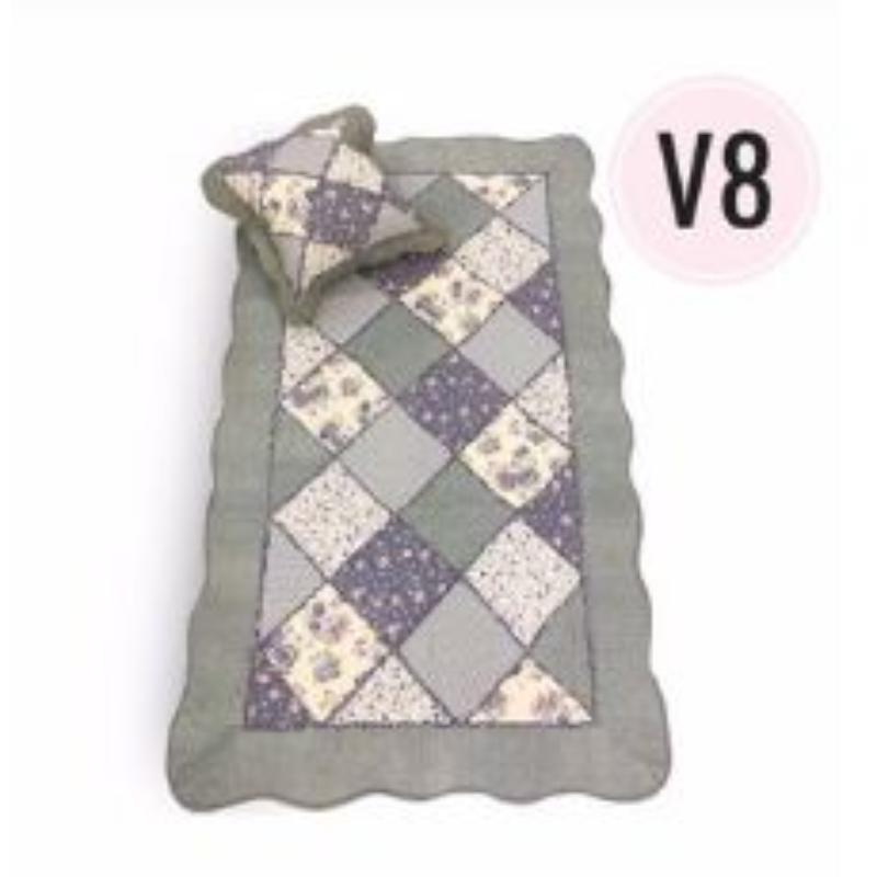 Vintage Story - Shabby Sajadah Exclusive Karpet Korea Antislip 90x150 Cm - KP06 - Motif V8 + 1 Sarung Bantal