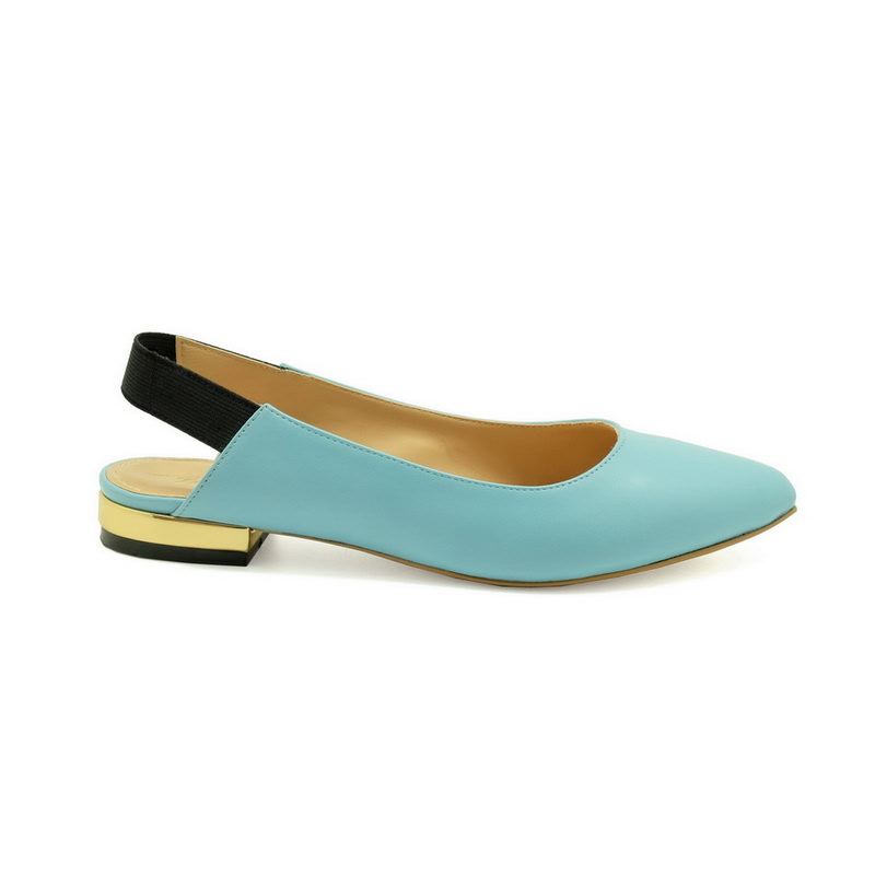 Apple Green Elsa Flats Blue
