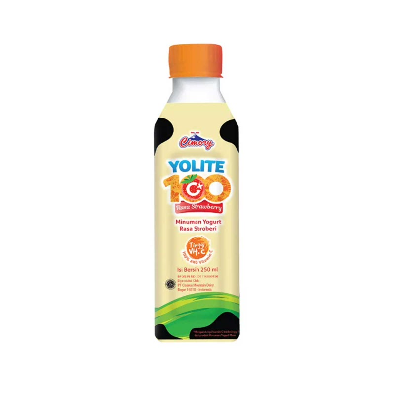 Cimory Yoghurt Drink Yolite C+100 Strawberry 250 Ml
