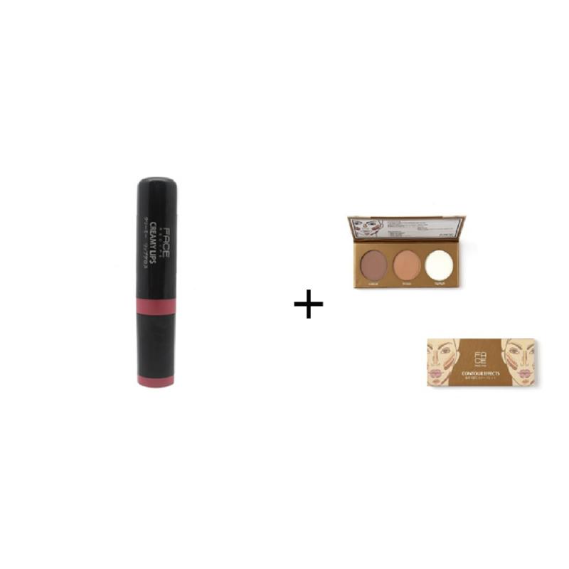 Face Recipe Creamy Lips Firebrick Lip Gloss + Face Recipe Contour Effects