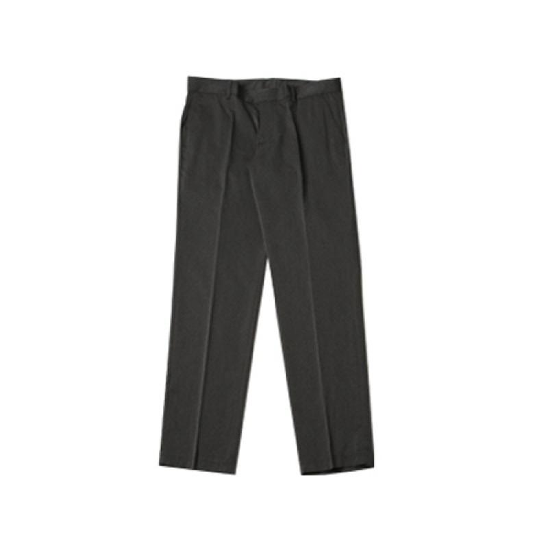 [BL2169]Basic Simple Line Fit Slacks - Charcoal