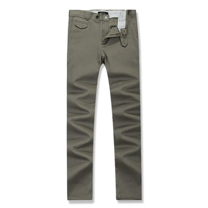 Out Pocket Cotton Span Pants - Khaki