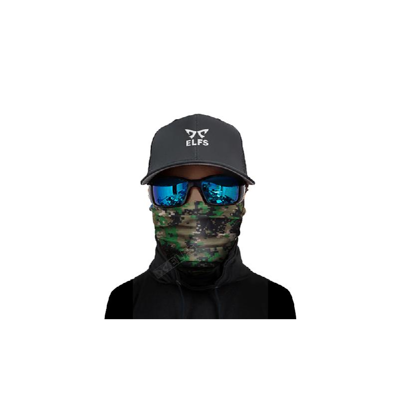 Elfs Shop Buff Bandana Masker Serbaguna Army Pattern Hijau Muda