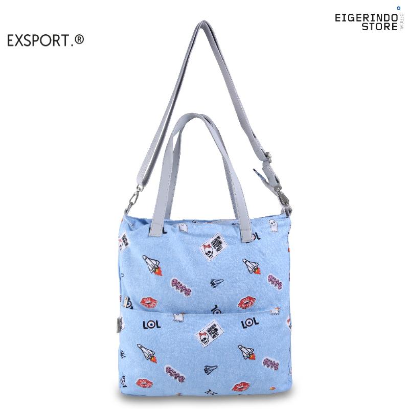 Exsport Whalien Tote Bag - Blue