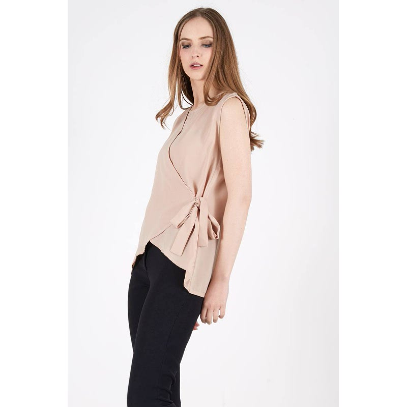 Saasha Bow Top Khaki