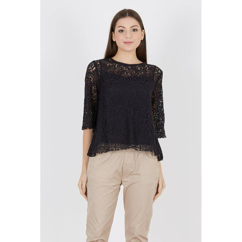 Reminda Lace Top Black