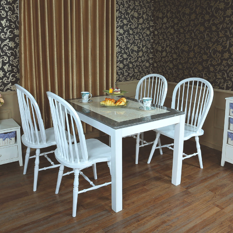 Marble Square Windsor 4P Dining Set (PO)