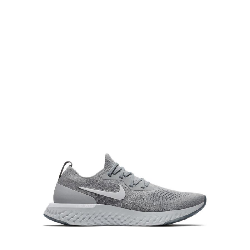 Nike Epic React Flyknit Men Running Shoes Grey