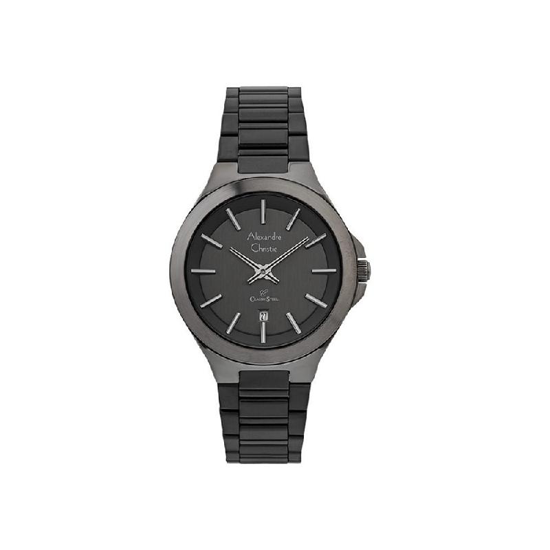 Alexandre Christie AC 8634 LDBBRBA Women Watch Stainless Steel Grey Black